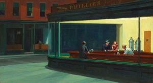Edward Hopper - NIghthawks (courtesy Wikipedia Commons)
