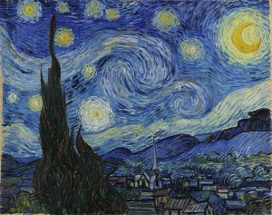 Van Gogh - Starry Night (courtesy Wikipedia Commons)