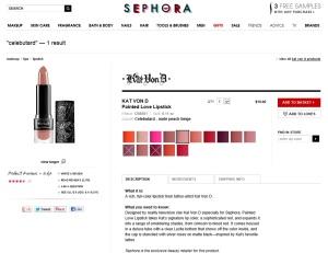 Sephora celebutard lipstick