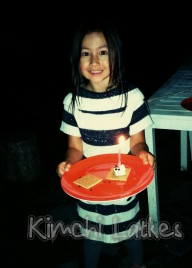 Birthday s'mores. Turned six, had her first sleepover. Was epic.